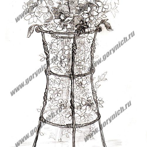 Кованые изделия для сада, держатели для цветов, кустодержатели