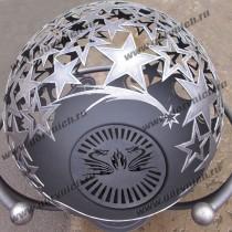 Очаг для костра - сфера с функцией мангала