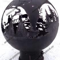 Уличный камин, очаг для костра
