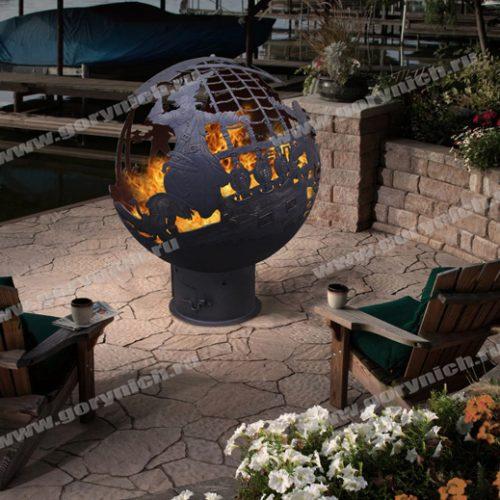 Сфера для костра - уличный камин с опцией манагала