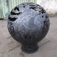 Сфера для костра - уличный очаг с функцией мангала