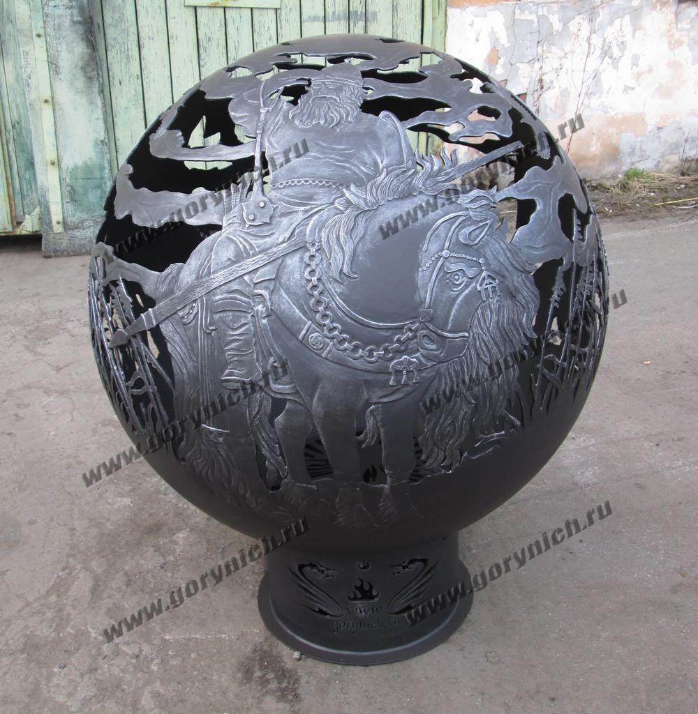 Сфера для костра- уличный круглый очаг с функцией мангала