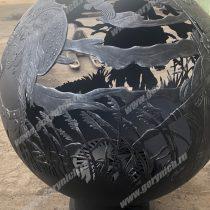 Улиный очаг для костра в виде сферы с функцией мангала