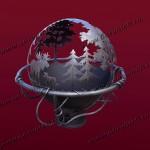 Очаг для костра в виде сферы. Уличный камин с функцией мангала