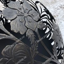 Уличный очаг для костра в виде сферы ручной работы. Сфера для костра с функцией мангала