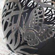 Уличный очаг для костра в виде сферы ручной работы. Функция мангала