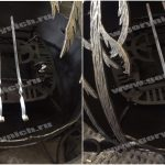 Уличный очаг для костра в виде сферы с функцией мангала