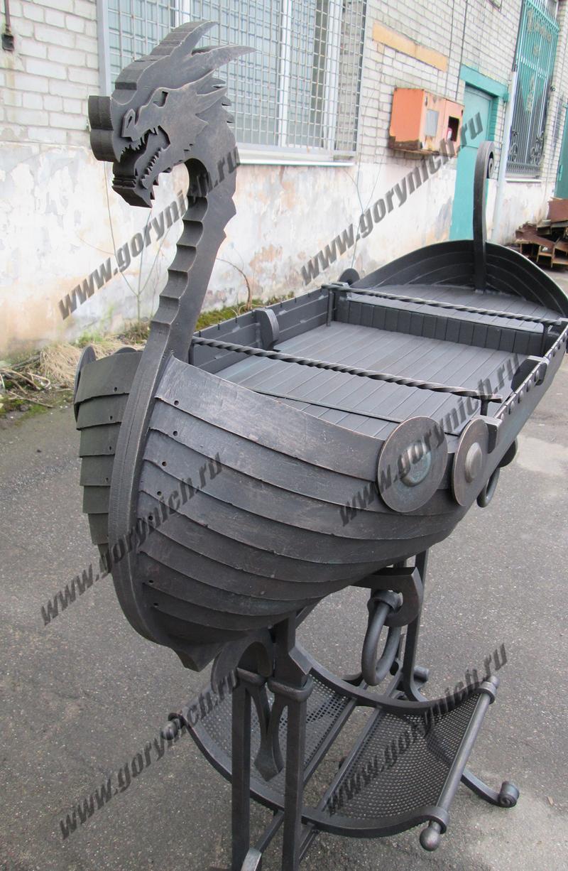 Мангал, кованый мангал Ладья