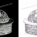 Уличный очаг для костра  в виде купола для каменного костровища