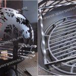 Уличный очаг для костра в виде сферы, уличный камин с функцией мангала. Костровище- шар