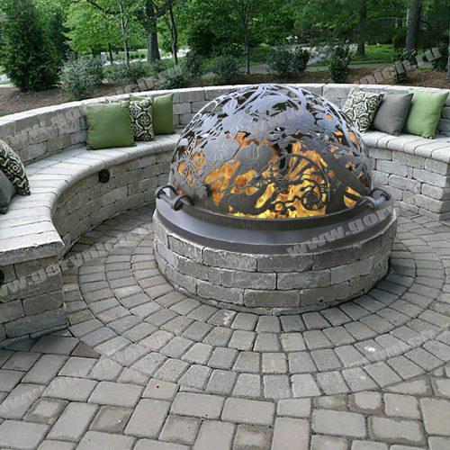 """Купол-крышка для уличного очага """"Райский сад"""""""