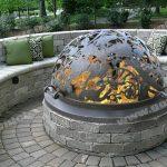 """Купол для уличного очага для костра """"Райский сад"""""""