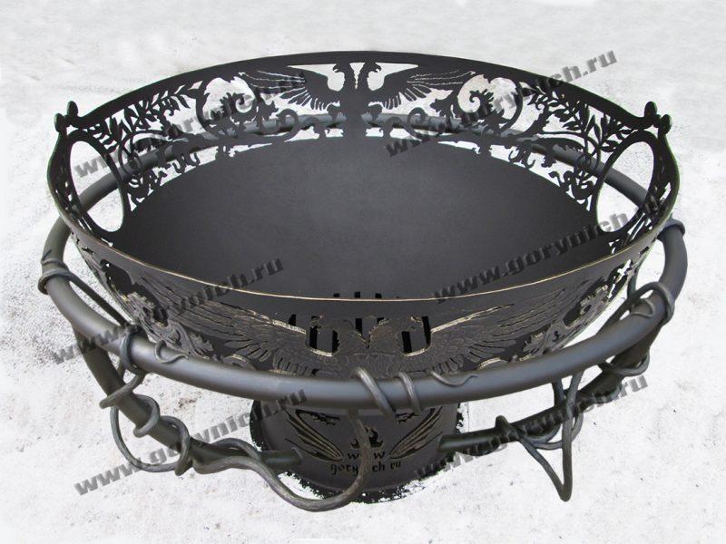 """Чаша для костра """"Кубок императора""""с кованым обручем безопасности"""