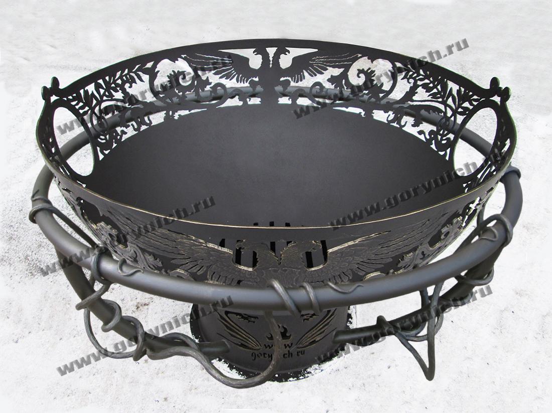 Чаша для костра «Кубок императора» с кованым обручем безопасности
