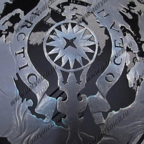 """Очаг- сфера для костра """"Древняя карта мореплавателя"""""""