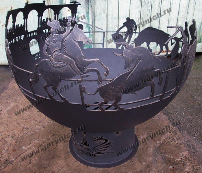 Чаша для костра «Испанская коррида»