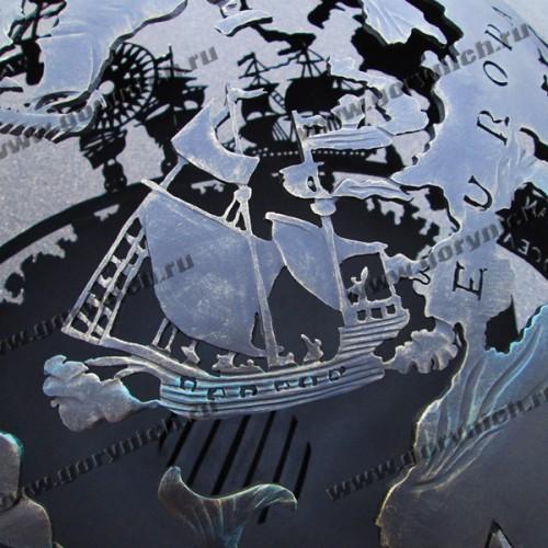 """Сфера для костра """"Древняя карта мореплавателя"""""""
