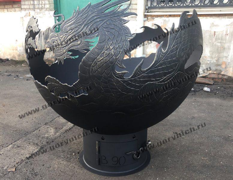 """Чаша для костра - уличный очаг """"Огненный дракон"""""""