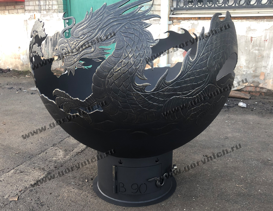Чаша для костра - уличный очаг «Огненный дракон»