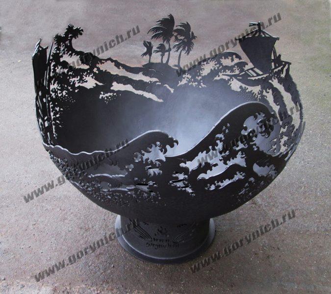 Чаша для костра «На гребне»