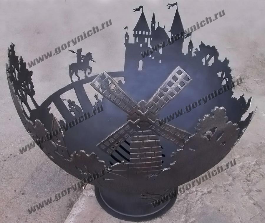 Чаша для костра «Возвращение рыцаря домой»