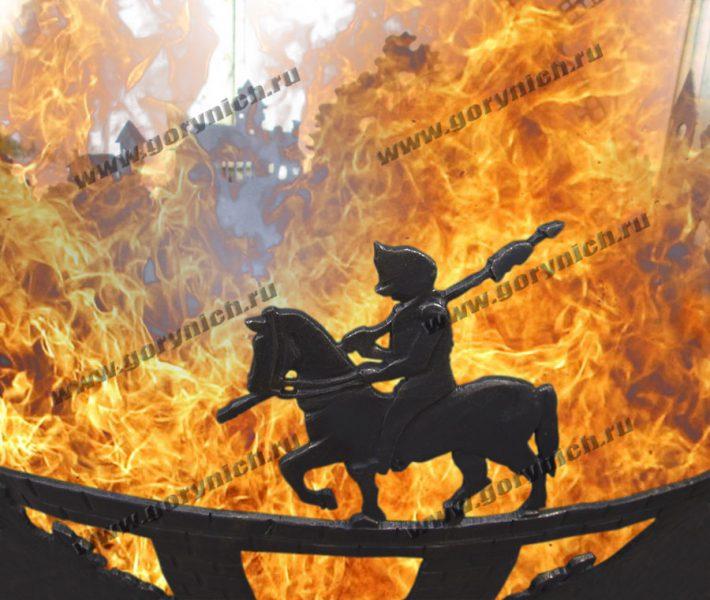 Костровая чаша - уличный очаг «Возвращение рыцаря домой»