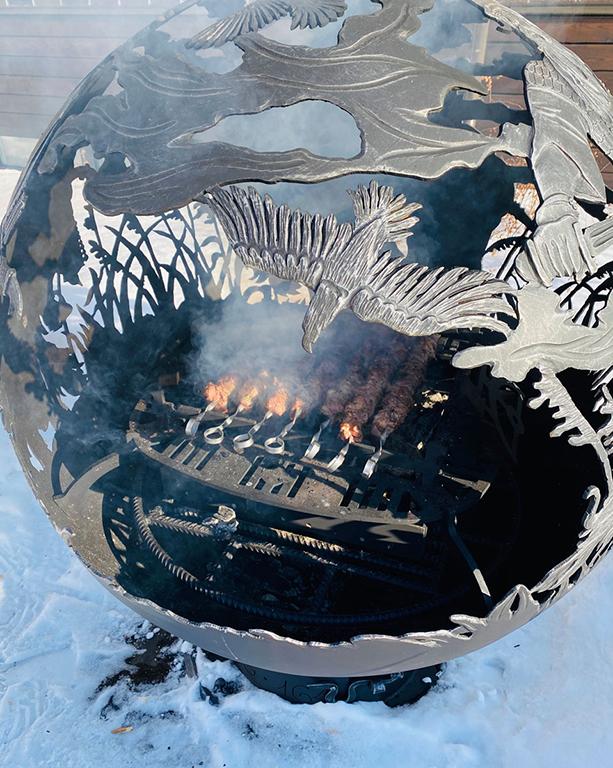 Вставка - мангал для костровых сфер