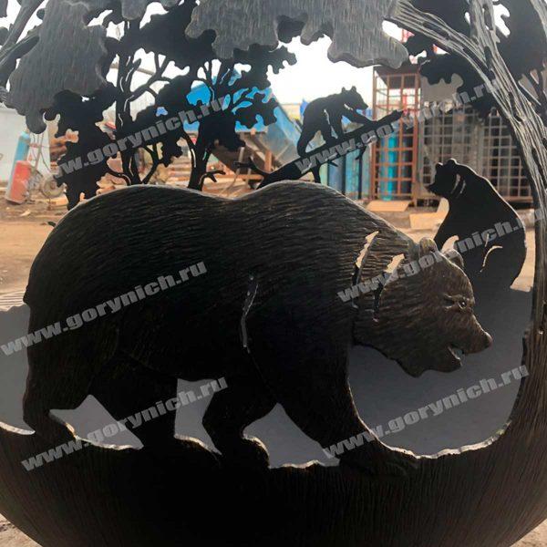 Уличный очаг - сфера для костра «Три медведя»