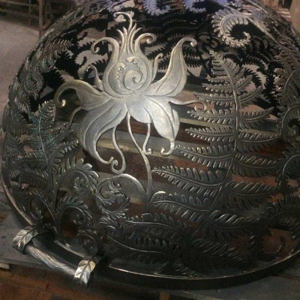 Купол для уличного очага «Огненный цветок папоротника»