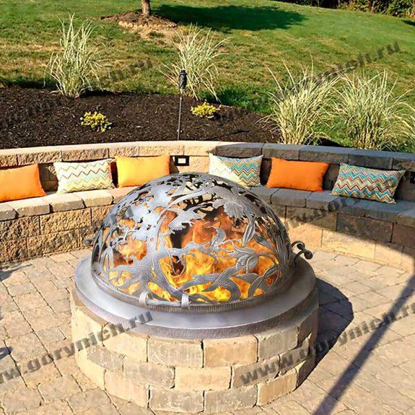 Купол для уличного очага «Райский сад»