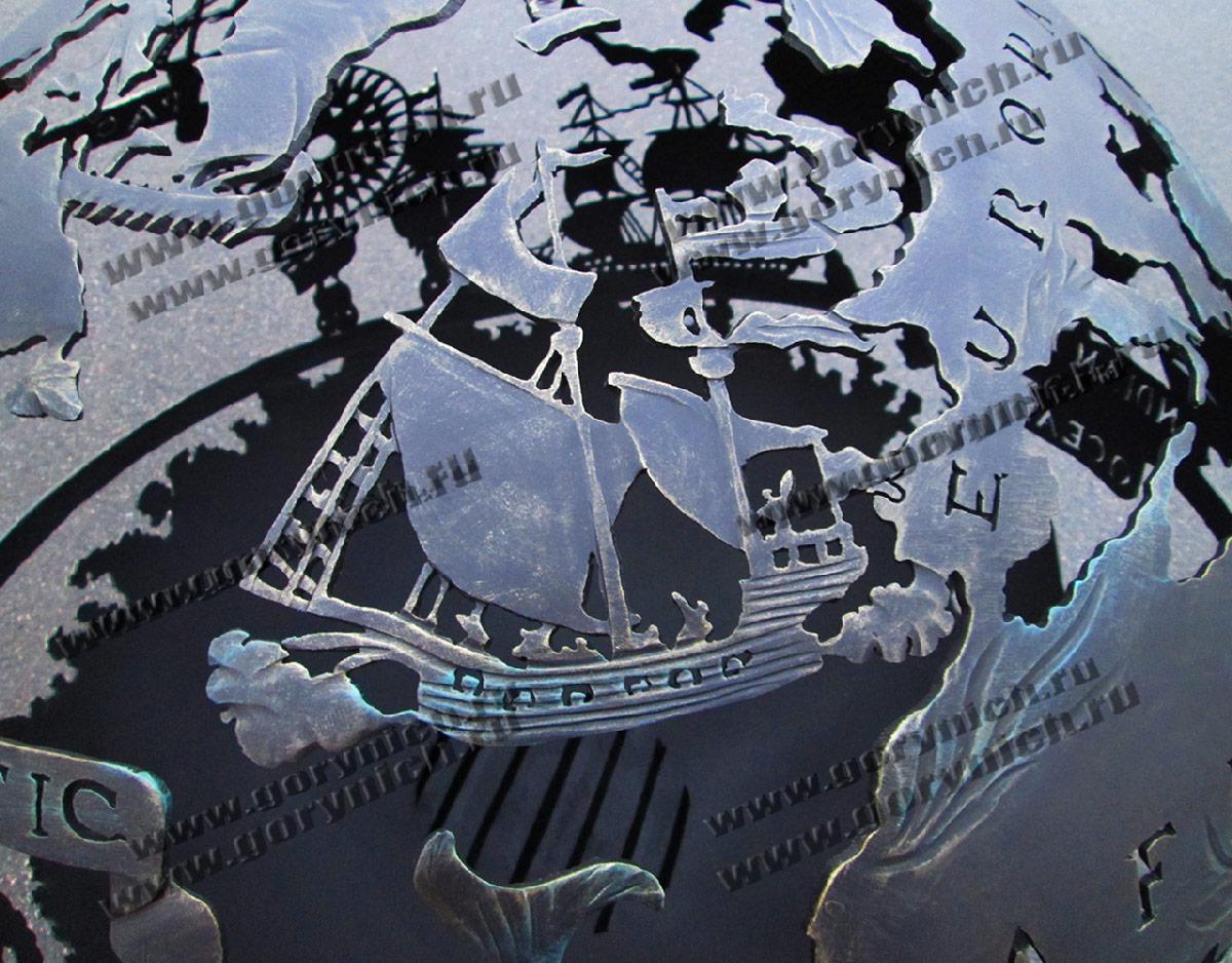 "Сфера для костра ""Древняя карта мореплавателя"""