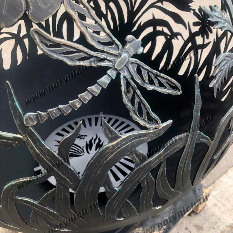 Уличный очаг для костра «Цветы любимой женщине»