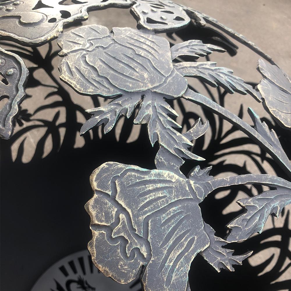 Уличный очаг для костра ручной работы «Цветы любимой женщине»