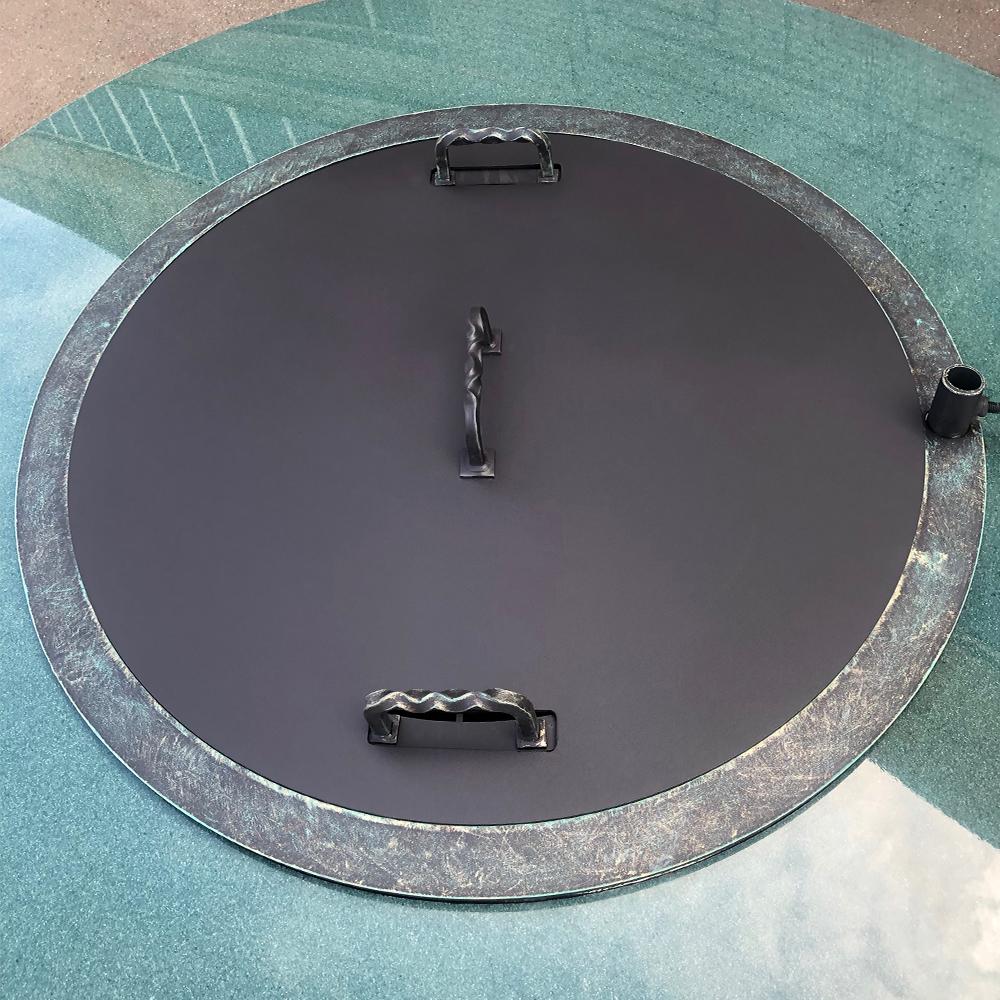 Очаг для костра с каменной столешницей «Кольца Сатурна - 1»