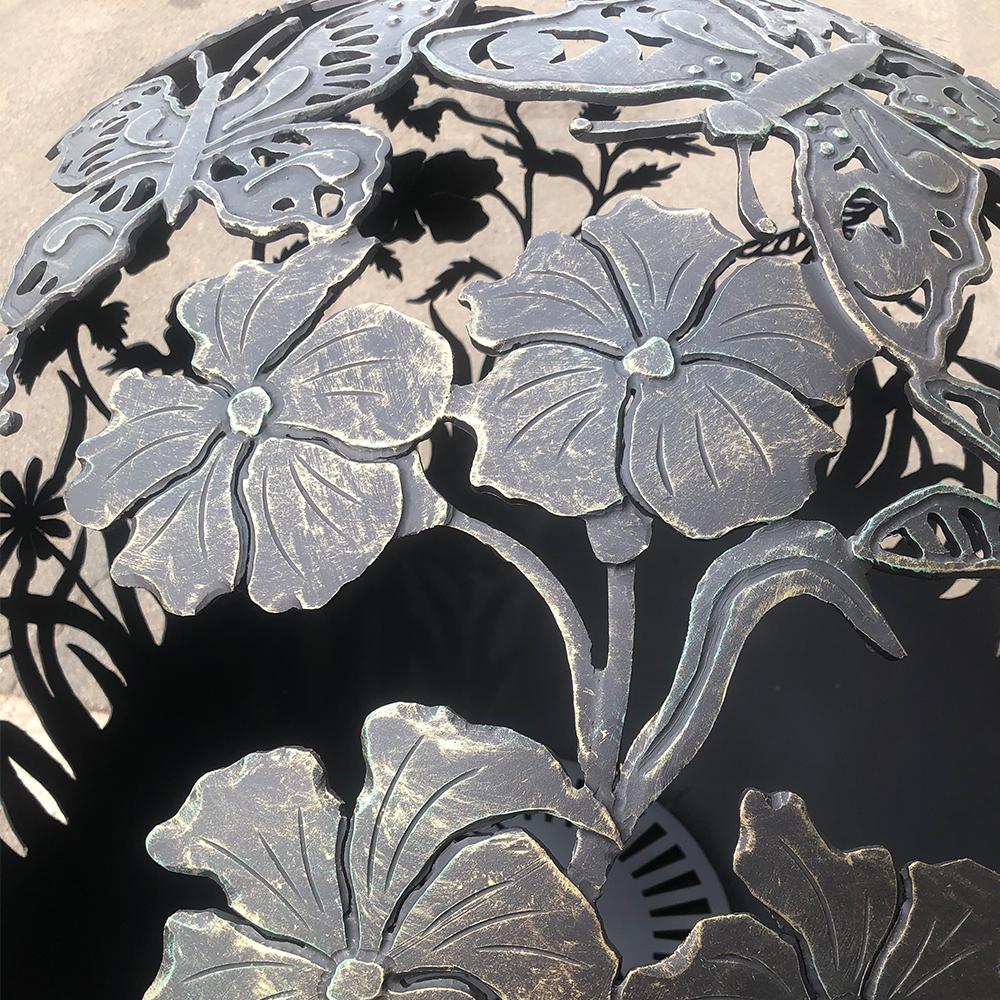 Уличный очаг ручной работы «Цветы любимой женщине»