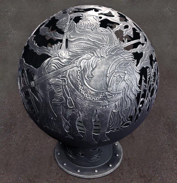 Уличный очаг - сфера для костра «Богатыри»