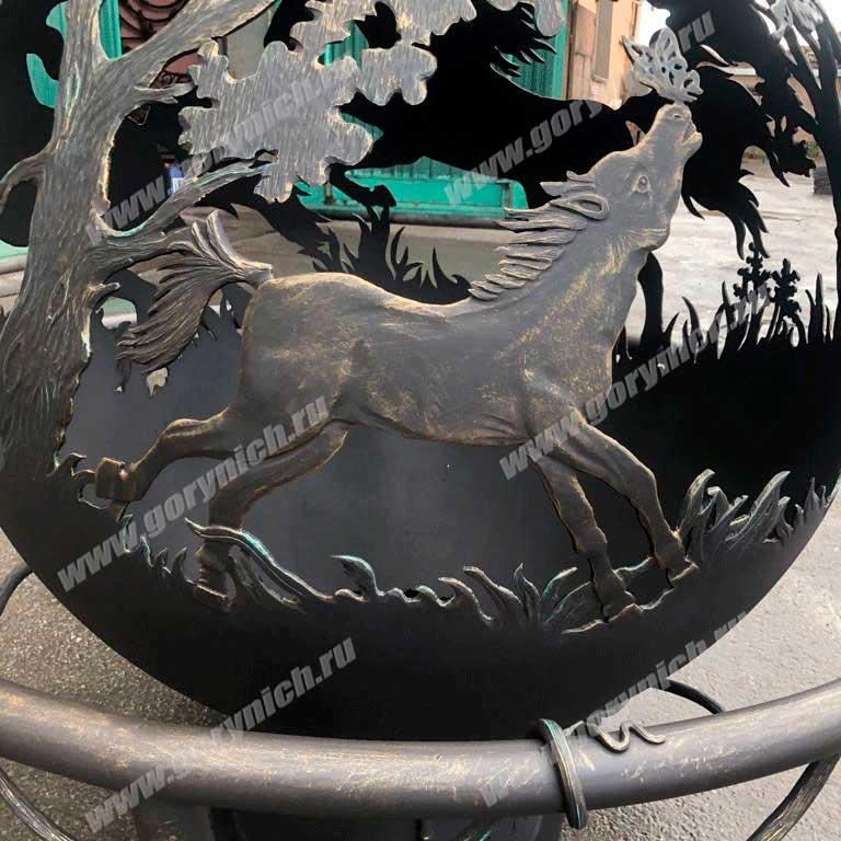 Очаг для костра «Вольные кони»