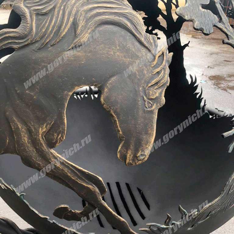 Сфера для костра - уличный очаг «Вольные кони»