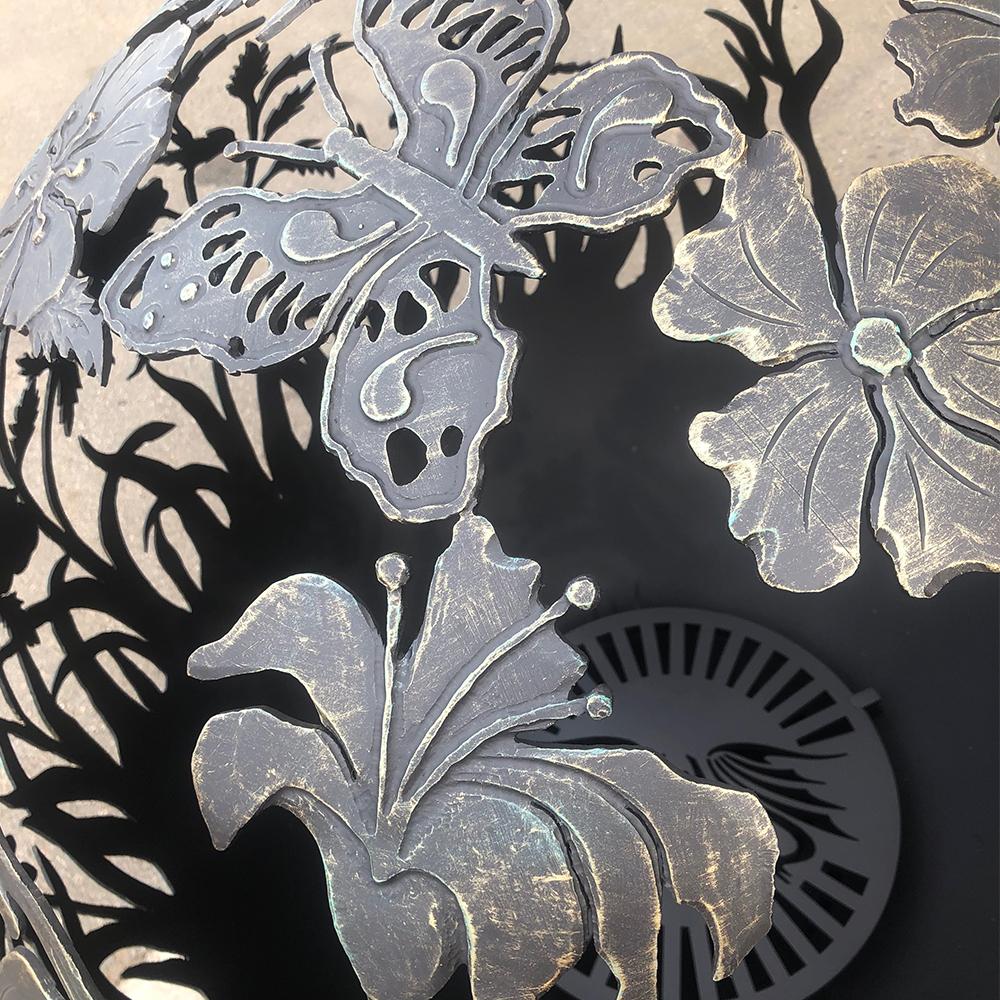 Сфера для костра - очаг «Цветы любимой женщине»