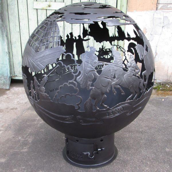 Уличный очаг-сфера для костра