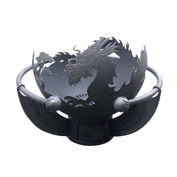 """Чаша для костра """"Огненный дракон"""" с кованым обручем"""