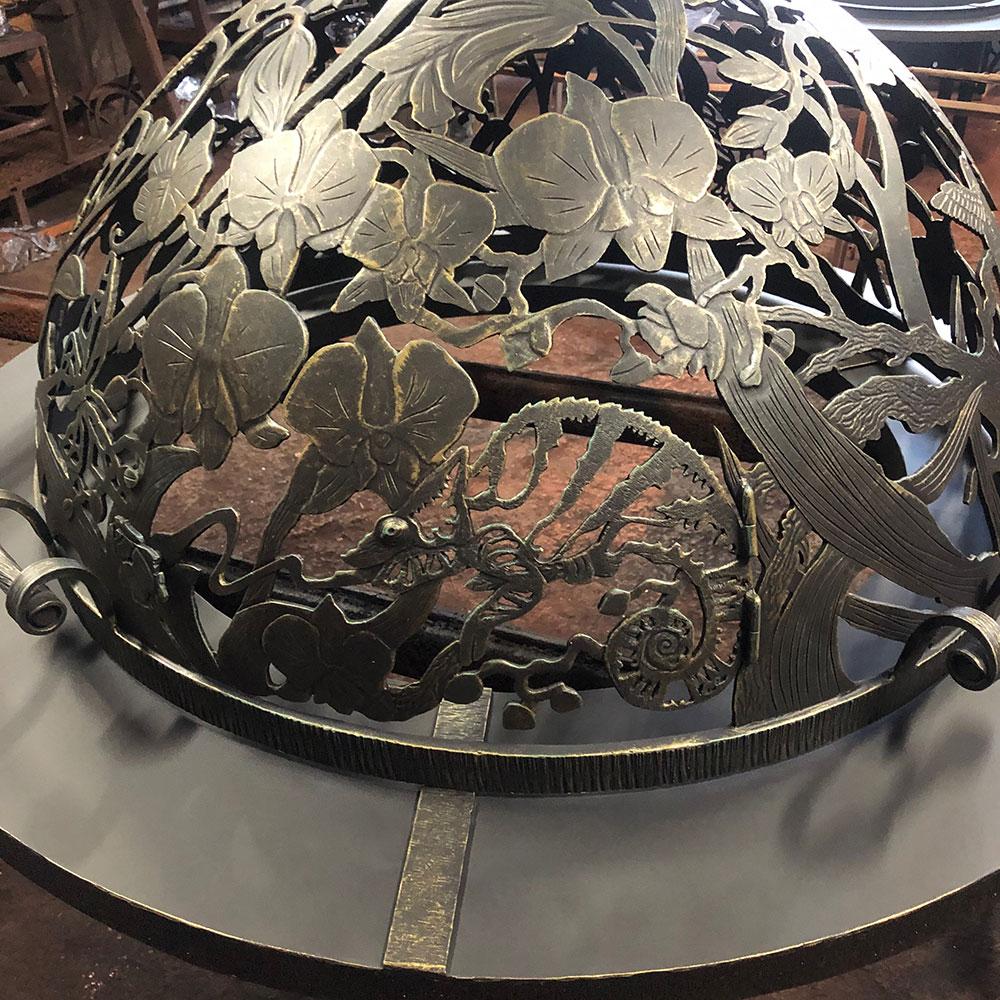 Резной купол для костровища «Райский сад»