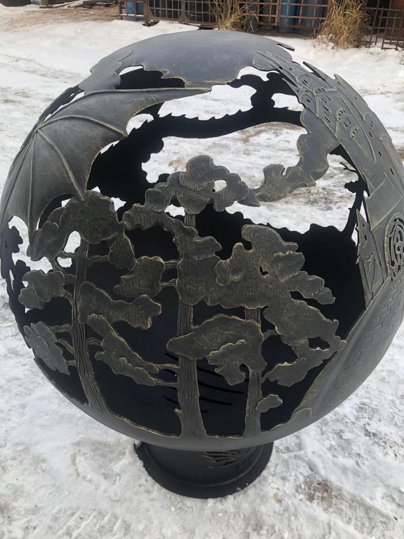 """Очаг-сфера для костра """"Замок Дракона"""""""