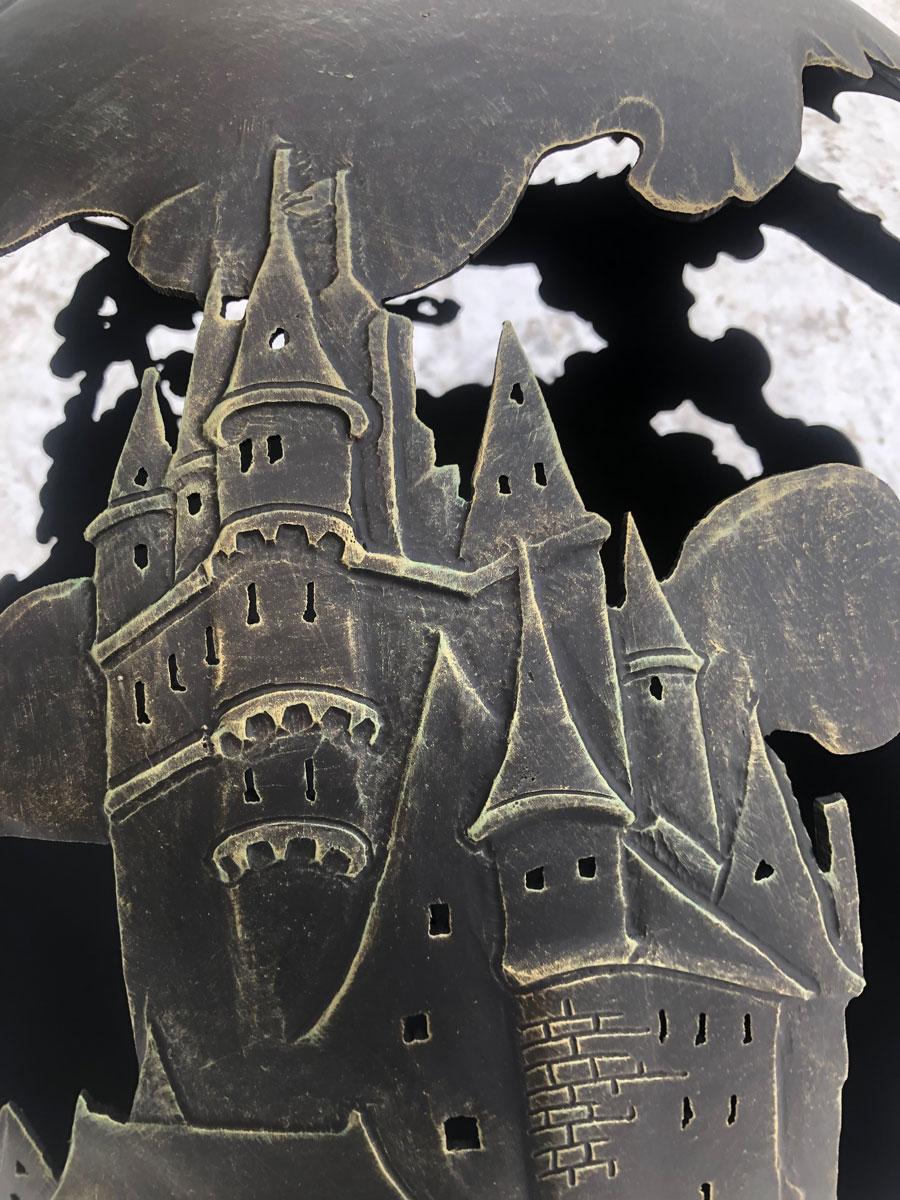 """Сфера для костра ручной работы """"Замок Дракона"""""""