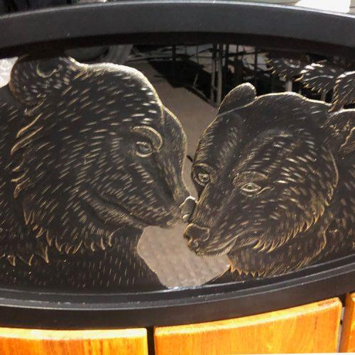"""Кованая скамейка """"Медведи"""""""