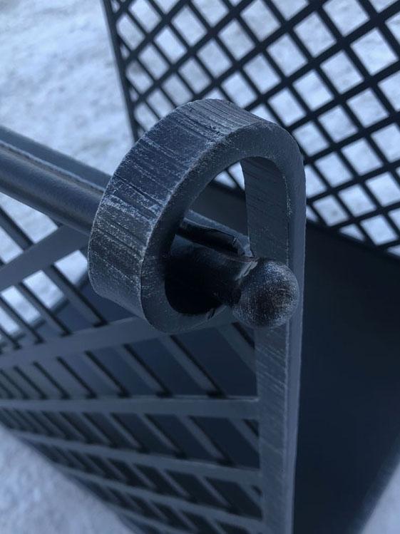 Кованая дровница ручной работы