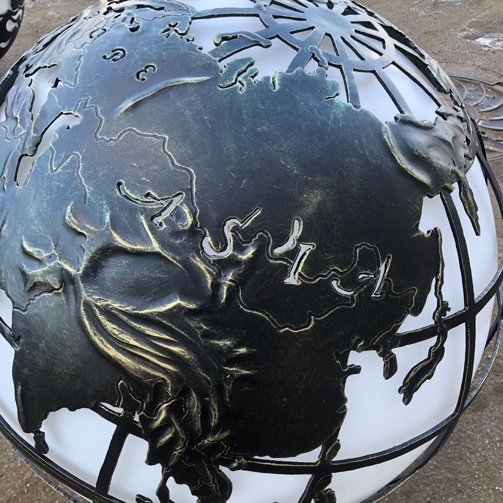 """Уличный светильник ручной работы """"Глобус"""""""