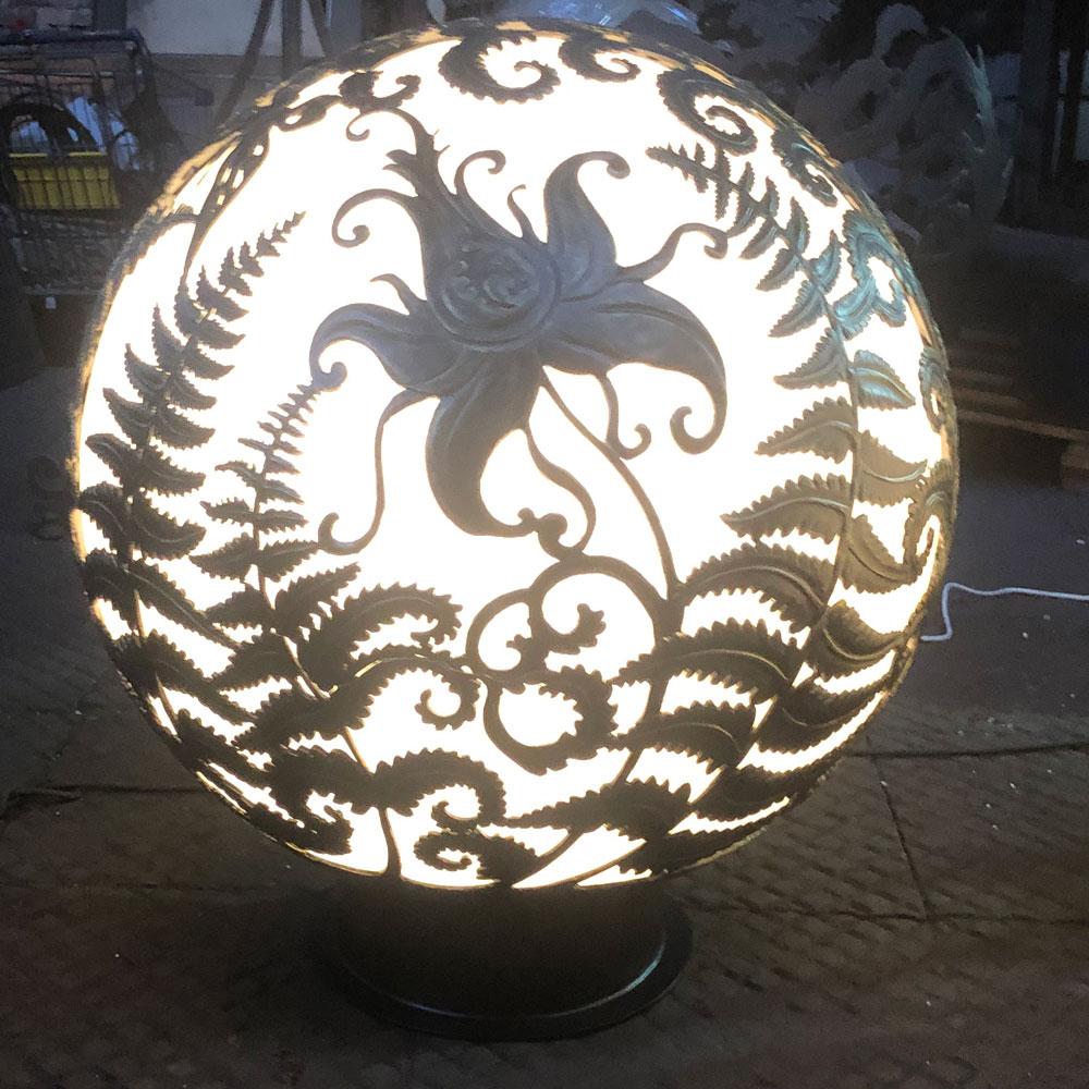 """Уличный светильник ручной работы """"Огненный цветок папоротника"""". Moon light"""