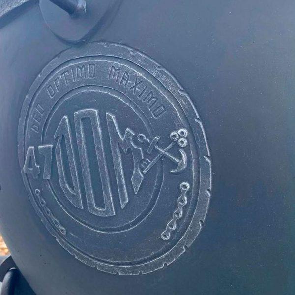 Логотип заказчика на жаровне. Гравировка