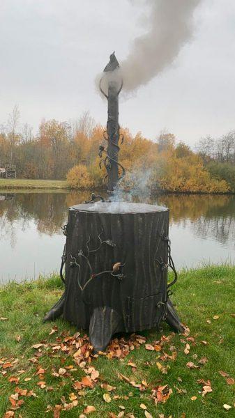 Кованый сжигатель для листьев